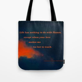 Sunset Cloud #74 with poem: Nothing Except Tote Bag