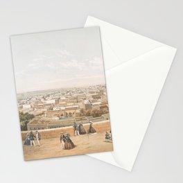 Vintage Pictorial Map of San Juan PR (1860) Stationery Cards
