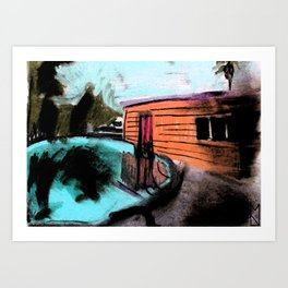 Pool House Art Print