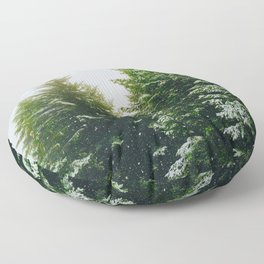Winter Pine Tree Forest (Color) Floor Pillow