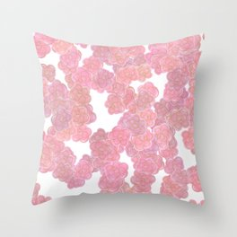 Blush Pink & Gold Florals Throw Pillow