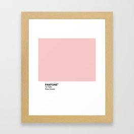 Pantone - Rose Quartz Framed Art Print