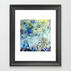 The Small World Experiment Framed Art Print