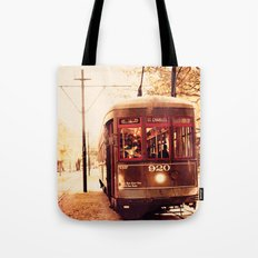 St Charles Street Car - New Orleans Tote Bag