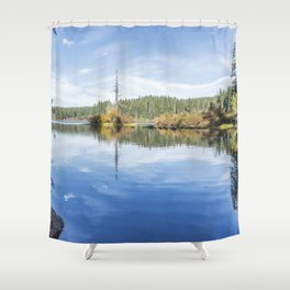 The Snag at Clear Lake Shower Curtain