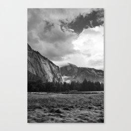 Half Dome, Yosemite National Park - Black & White Canvas Print