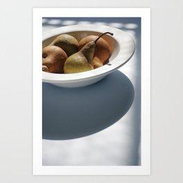 Organic Pears Art Print