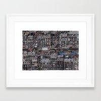 the neighbourhood Framed Art Prints featuring Parisian Neighbourhood by Guillaume Cornet