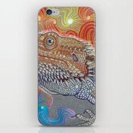 Cosmic Dragon, Bearded Dragon Art iPhone Skin