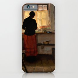 Anna Ancher - Girl In The Kitchen - Digital Remastered Edition iPhone Case
