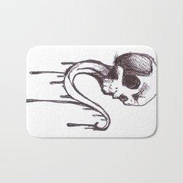 Skull sketch Bath Mat