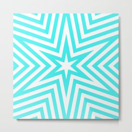 Star Pattern Metal Print