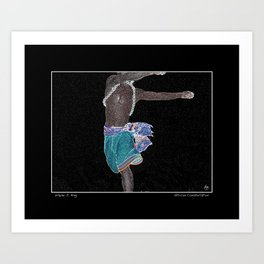 African Constellation Fine Art Poster and Card Art Print