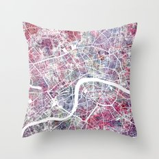 London map Throw Pillow