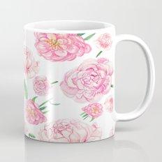 Watercolor Peonies Mug