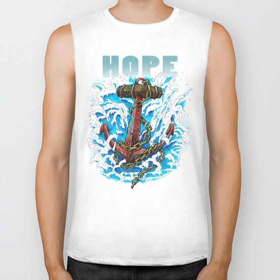 Hope is my Anchor Biker Tank