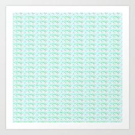 White hen on blue sky Art Print