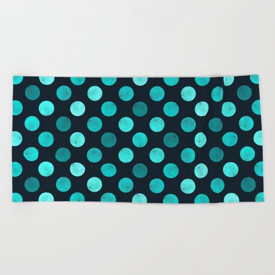 Watercolor Dots Pattern IV Beach Towel