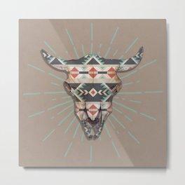 Cow Skull Induco Metal Print