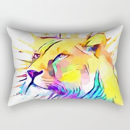 Lioness 3 Rectangular Pillow