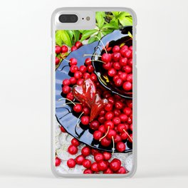 Red and black Clear iPhone Case
