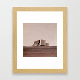 Torness Nuclear Power Station | Marquetry Framed Art Print
