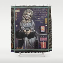 Dolly Parton Shower Curtain