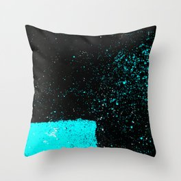 Black & Blue Throw Pillow