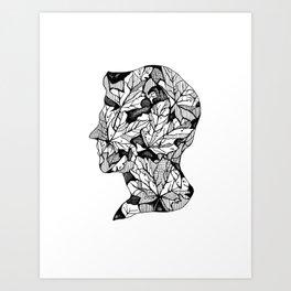 Leaf Cameo Art Print