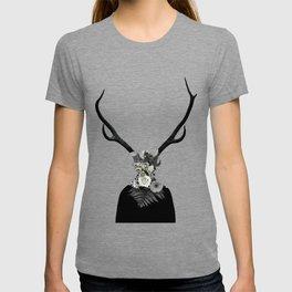 Man with a deer face T-shirt