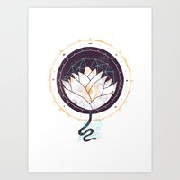 lotus Art Prints featuring Lotus by Hector Mansilla