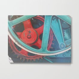 Symphony in Red Minor Metal Print
