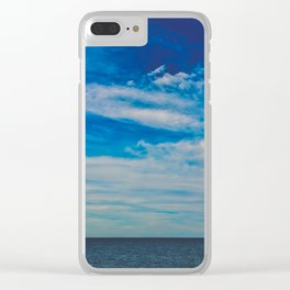 The Blue Summer Sky Clear iPhone Case