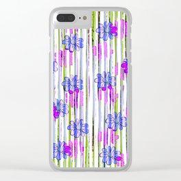 Flower Vine - Green Clear iPhone Case