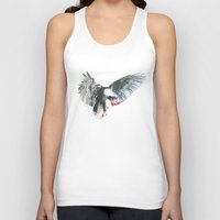 eagle Tank Tops featuring Eagle by Susana Miranda ilustración