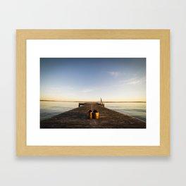On The Dock Framed Art Print