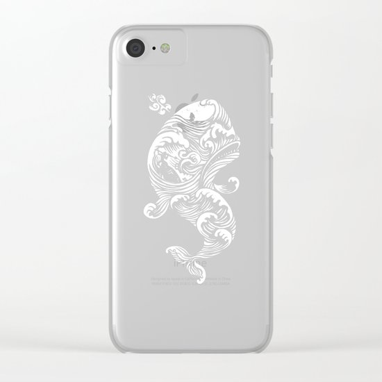 The White Whale  Clear iPhone Case
