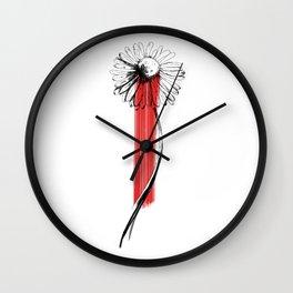 Bloody Daisy Wall Clock