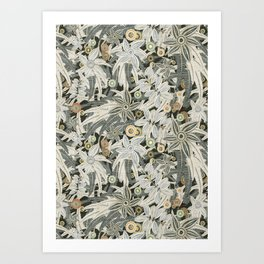 floral embroidery Art Print