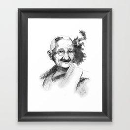 Will & Strength (Ghandi) by carographic Framed Art Print