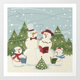 Christmas Song / Snowmen Art Print