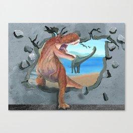 Prehistoric Dinosaur Tyrannosaurus Enters the 21st Century Canvas Print