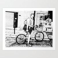 tim shumate Art Prints featuring Tim by Laura Elliott