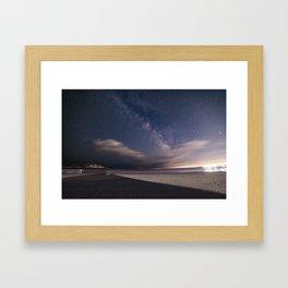 Milkyway at Good Harbor Beach Framed Art Print