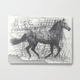 Horse Supercluster Metal Print