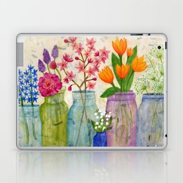 Springs Flowers in Old Jars Laptop & iPad Skin