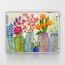 Springs Flowers in Old Jars Laptop & iPad Skin