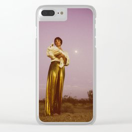 A Passing Traveler Clear iPhone Case