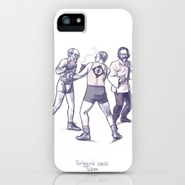 Freud, Jung, and Watts, walk into a bar... iPhone Case