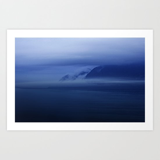 Smooth surf blues Art Print